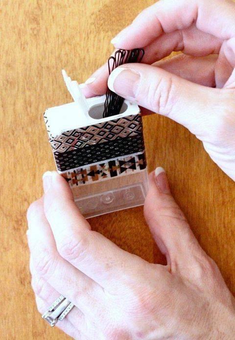 Pudełko po TicTacach, taśma dekoracyjna washi i gotowe!