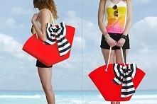 Filcowy koszyk z marynarska kokardą na plażę ! by modeMania