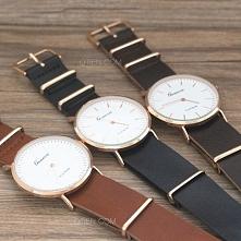 Który najładniejszy? Karmel, czerń czy brąz? :)  Zegarki dostępne w sklepie O...