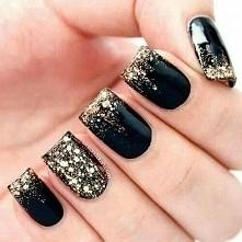 czarne ze złotem