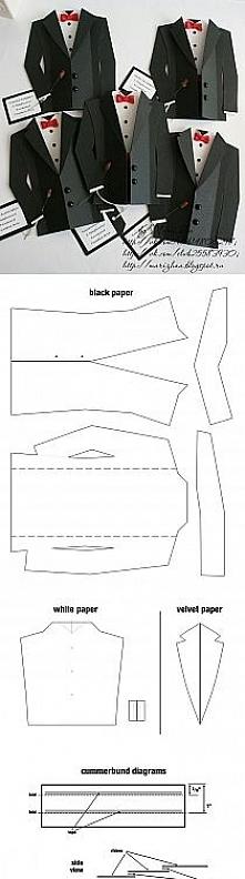 Kartki garniturki szablon
