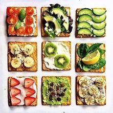 Do wyboru, do koloru :)  1. chrupki chleb + biały ser + pomidorki koktajlowe + bazylia 2. chrupki chleb + mieszana sałata + avocado + se feta 3. chrupki chleb + biały ser + ogór...