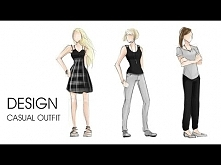 Fashion design | Casual outfit | sketch