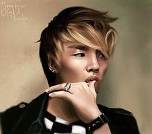 Portret Jonghyun'a z Shinee, wykonany przeze mnie przy pomocy tabletu gr...