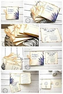 Prowansalskie, sielskie i oryginalne zaproszenia ślubne z motywem lawendy:)  ...