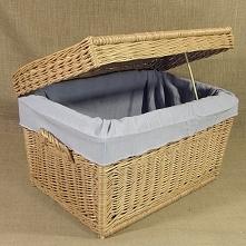 Wiklinowy kufer - skrzynia z materiałowym wkładem. Dostępny w kilku wymiarach...
