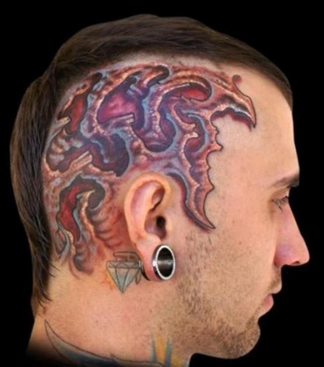 Tatuaż Na Skroni Na Tatuaże Zszywkapl