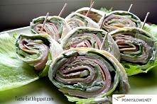 Imprezowe rollsy z tortilli- 2 wersje Składniki: I wersja: - placki tortilli ...