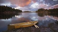 Jezioro łódka.