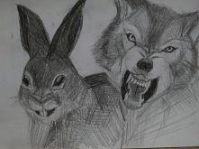 Każdy może być wilkiem lub zającem ;> podoba się chociaż troszkę ?