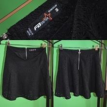 hej, sprzedam czarną spódniczkę z dziurkami krótka, elegancka spódniczka z za...