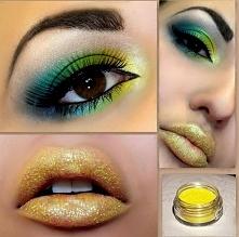 egzotyczny makijaż :)