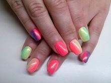 Neon ombre + mermaid