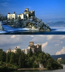 Zamek Dunajec – średniowieczna warownia znajdująca się na prawym brzegu Zbior...