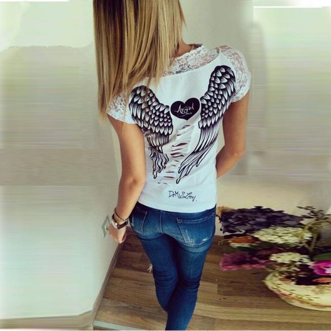 bluzka ze skrzydlami na plecach 2015