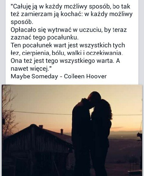 Maybe Someday Colleen Hoover Na Cytaty Zszywkapl