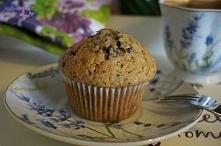Muffinka bananowa z czekoladą. Po przepis zapraszam na bloga