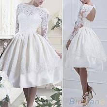 biala sukienka koronkowa