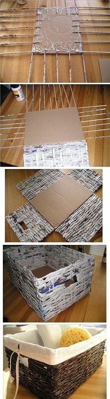 Koszyk z papierowej wikliny