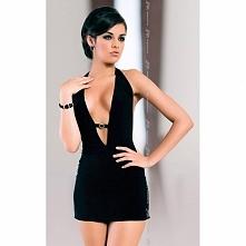 Mała czarna sukienka z odkrytymi plecami Marika