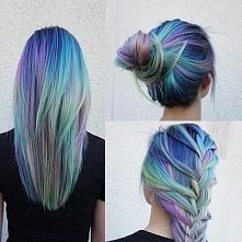genialne niebieskie włosy