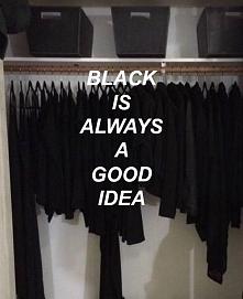 Czarny to zawsze dobry pomysł.