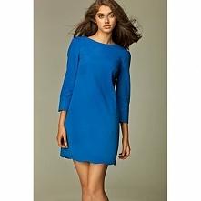 Niebieska sukienka na co dzień S28