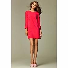 Różowa sukienka na co dzień S28