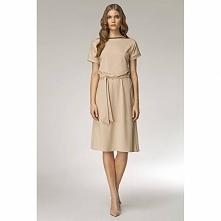 Kremowa sukienka na co dzień S13