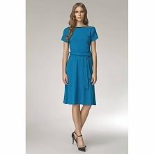Sukienka na co dzień S13 niebieska