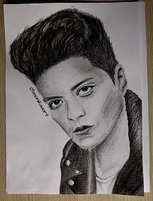 Bruno Mars ! Zapraszam na making of tego rysunku (link w komentarzu) :)