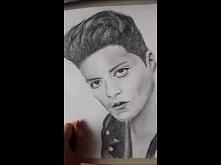 Moje rysowanie Bruno Marsa :D Zapraszam :)