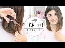 Long bob haircut DIY jak obciąć włosy samemu