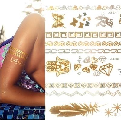 Flash Tattoo Tatuaże Metaliczne Złote I Srebrne Hit Sezonu