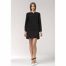 Mała czarna sukienka trapezowa S35