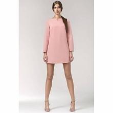 Różowa sukienka trapezowa S35