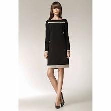 Czarna elegancka sukienka S40