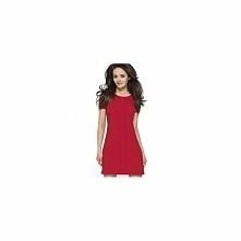 Czerwona sukienka na lato KM110