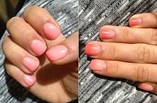 Manicure hybrydowy zmieniający kolor.