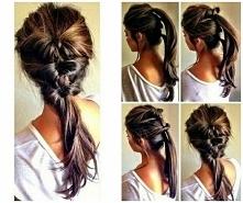 pomysł na codzienną fryzurę :)
