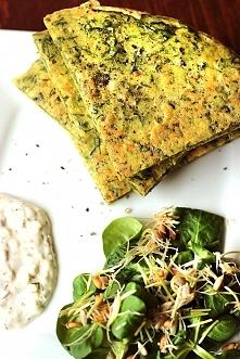 Omlet jaglany ze szpinakiem - bez glutenu, bez laktozy  link do przepisu po k...