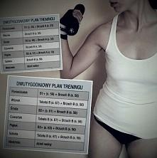 tak jak obiecałam dla wszystkich wytrwale dążących do wymarzonej sylwetki, podejmujących wyzwanie tak jak ja z Natalią, zamieszczam plan treningów na kolejny miesiąc :-) górna k...