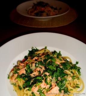 Spaghetti alla carbonara al salmone