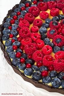 TARTA BEZ PIECZENIA. Szybka tarta czekoladowa z waniliowym kremem Patissiere ...
