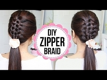 Zipper Braid Hair Tutorial (2 Ways) | Braided Hairstyles