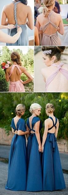 na różne sposoby wiązania - suknia dla druhny