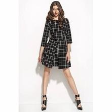 Czarna sukienka w kratę S55