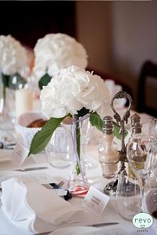 Piękne białe hortensje jako...