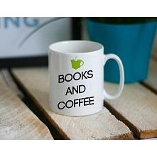 Kubek z nadrukiem BOOKS AND COFFEE littlethings.pl
