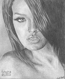Portret Rihanny wykonany w ...